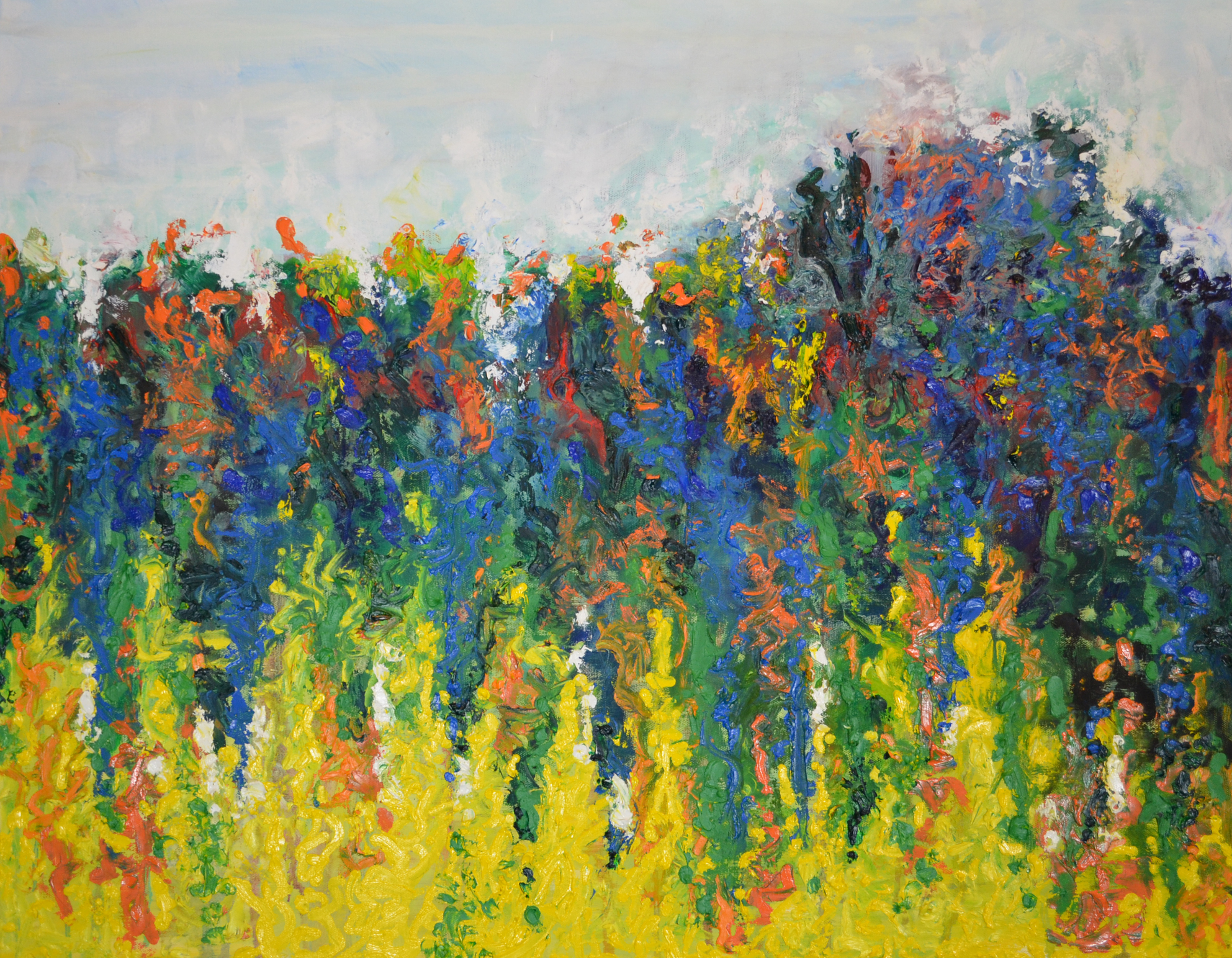 Dancing in Full Color, an oil on canvas by Dale Sprague