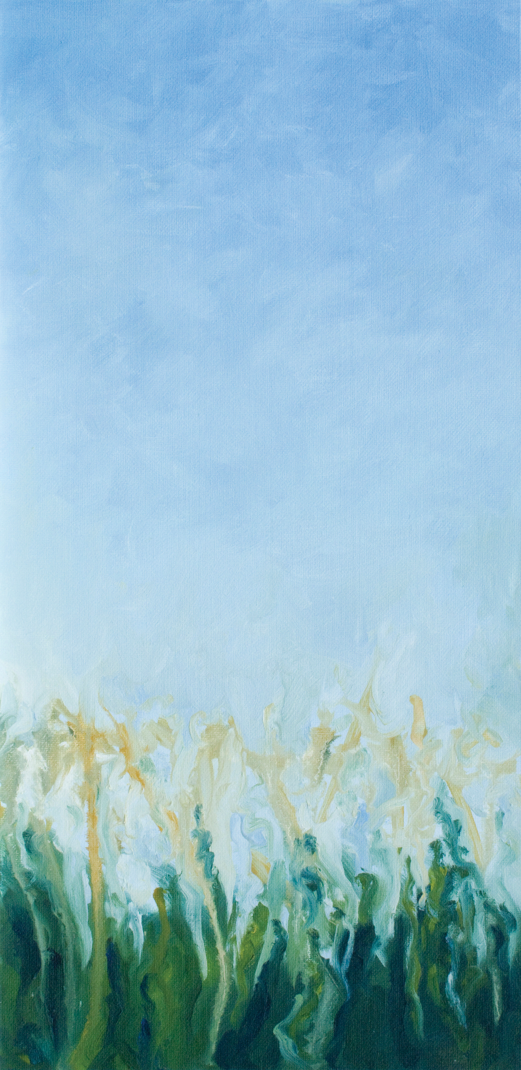 """Oil on Board, 10"""" w x 20"""" h, October 2011"""